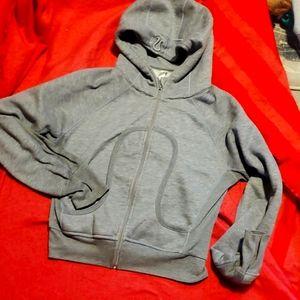 Grey Lululemon zip up hoodie